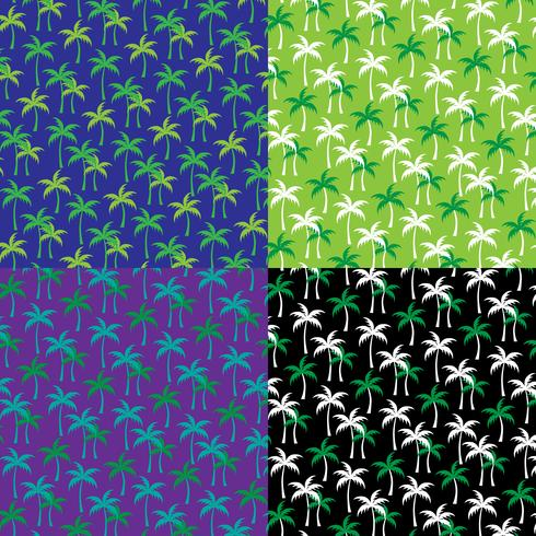 palm tree background patterns vector