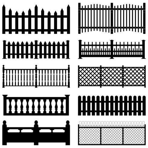 Fence image set. vector