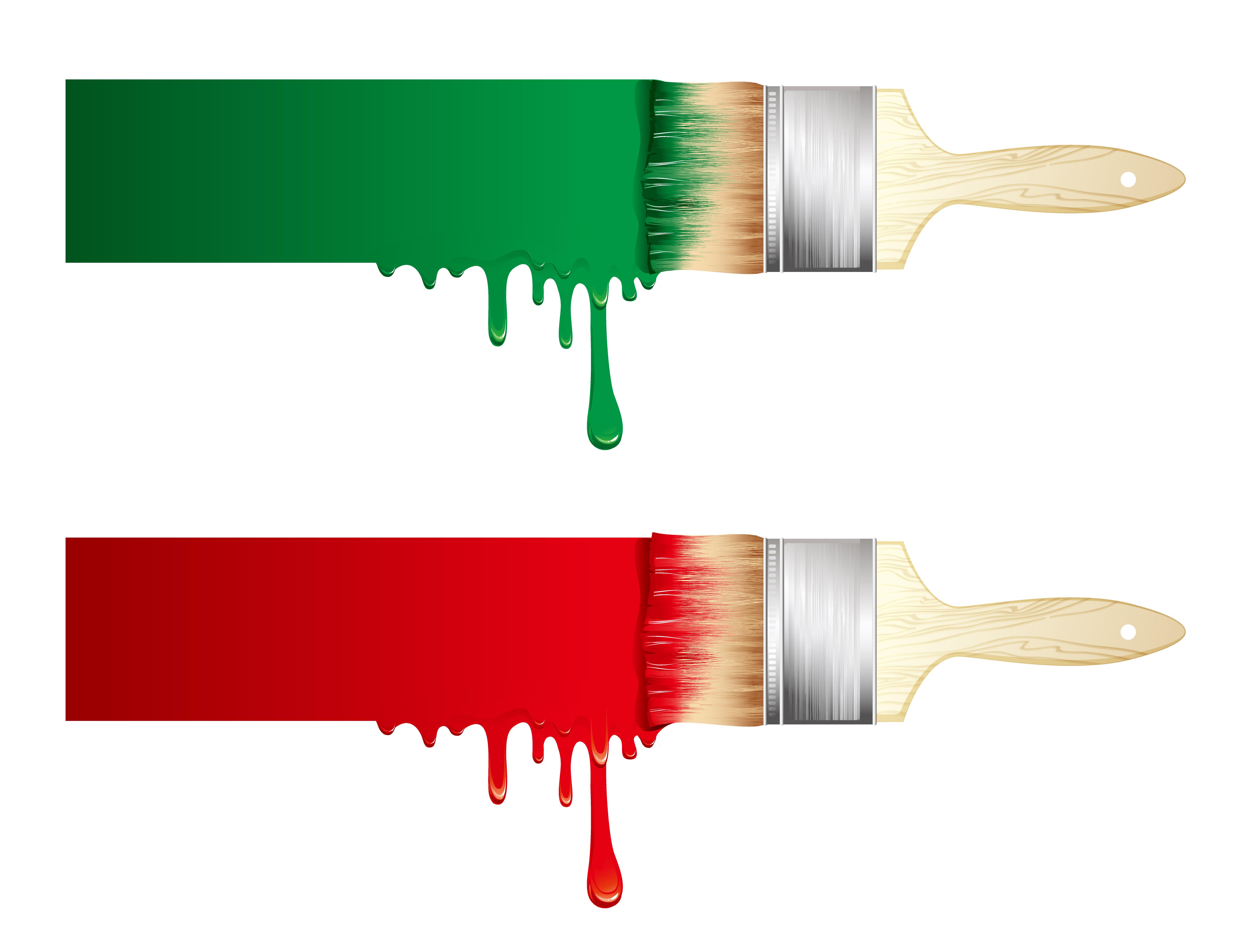 Paintbrush and palette vector art