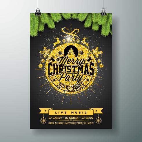 Festa de Natal Flyer Design vetor