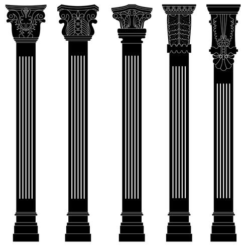 Antique Pillar column vector