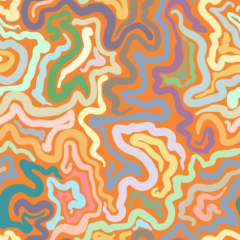 Kleurrijke krabbel abstracte naadloze achtergrond.
