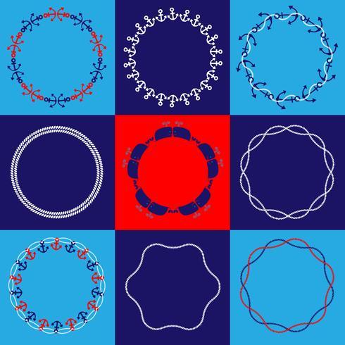 Nautical Circle Frames