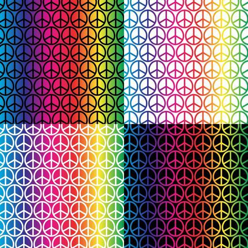 padrões de sinais de paz do arco-íris