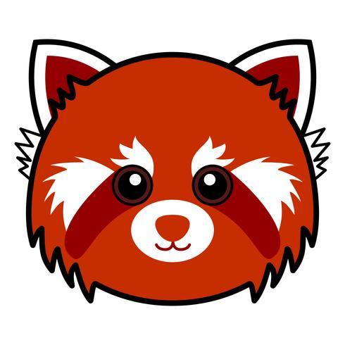 Vetor bonito da panda vermelha.