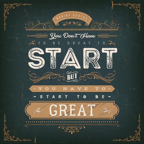 Você não precisa ser ótimo para começar vetor