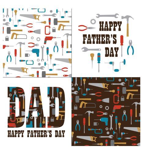 La grafica della festa del papà con gli strumenti