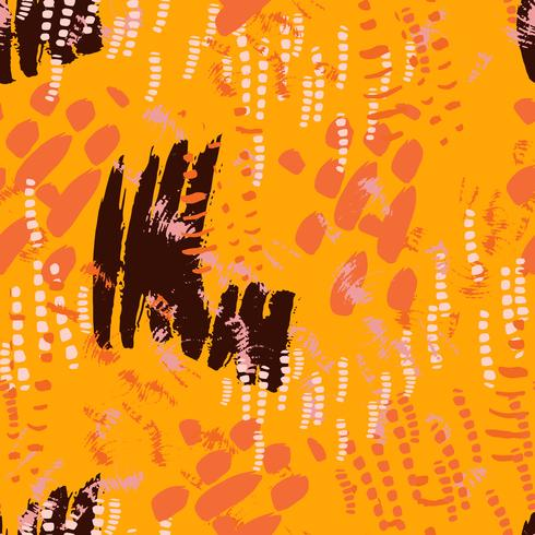 Safari-Muster auf gestreiftem Hintergrund