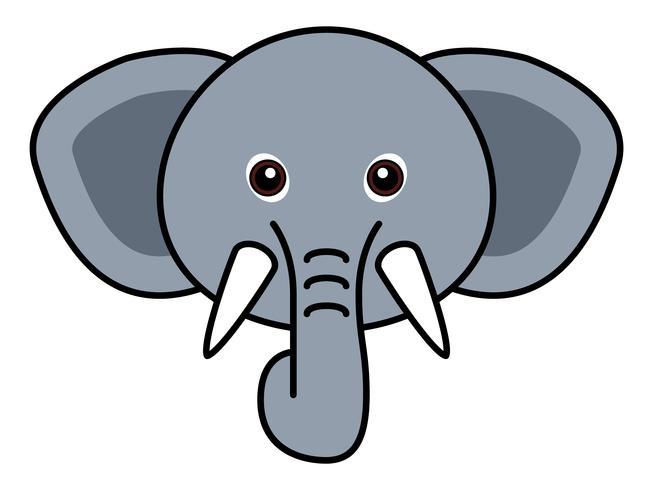 Leuke olifant vector. vector