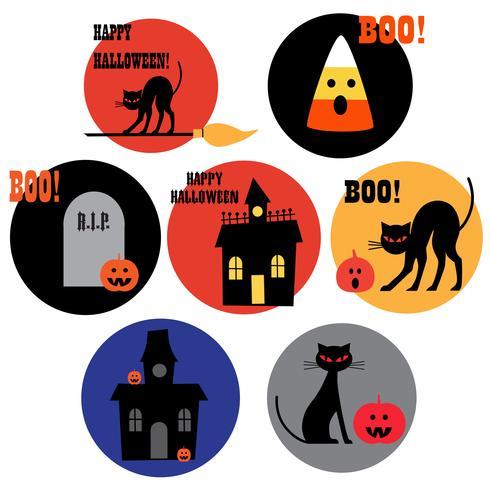imágenes prediseñadas de los iconos de halloween vector