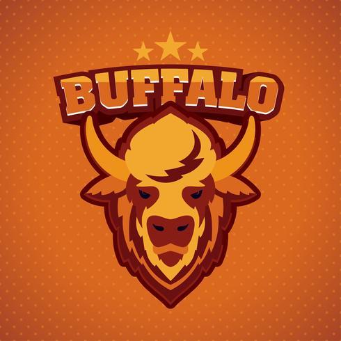 cabeza de búfalo logo mascota