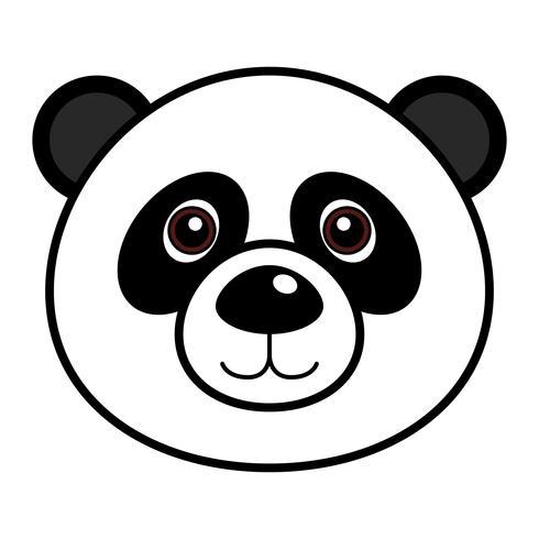 Cute Panda Vector.  vector