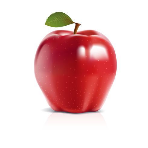 Modèle d'illustration Apple 3D vector design