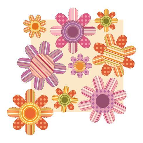 Blommönster vektor design illustration mall