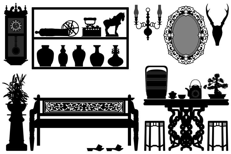 Antique Furniture Design .  vector