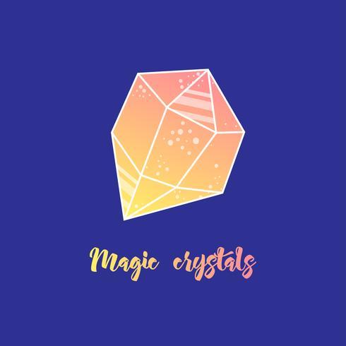 Magic crystals of pyramidal shape.