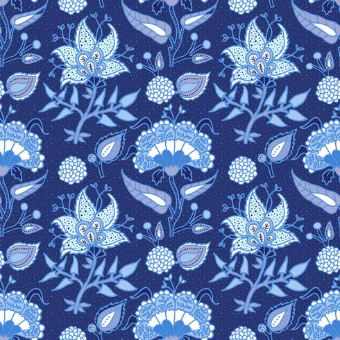 India nacional adorno paisley para algodón, tejidos de lino. vector
