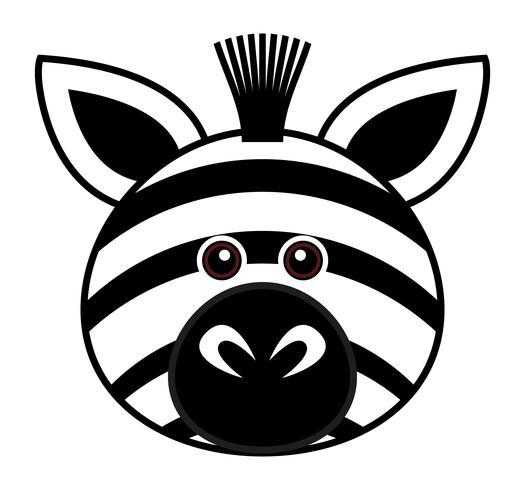 Cute Zebra Vector.