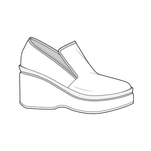 Schoenen vector ontwerp illustratie sjabloon
