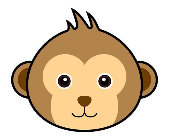 Cute Monkey Vector.  vector
