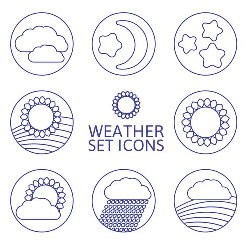 ikoner väder. vektor