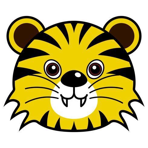 Cute Tiger Vector.  vector