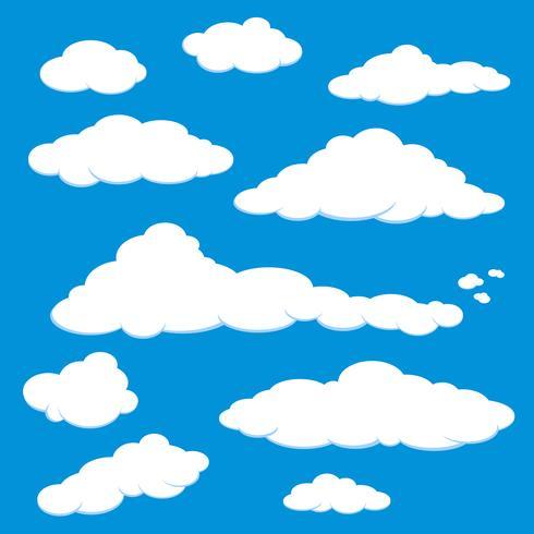 Cloud Blue Sky Vector.