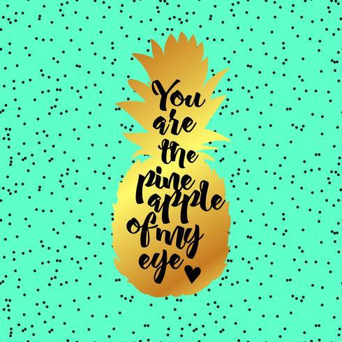 Eres la piña del cartel de mi ojo. vector
