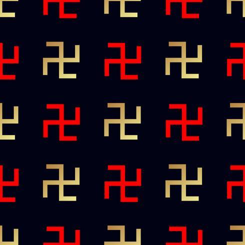 patrón sin costuras Cruz giratoria vector