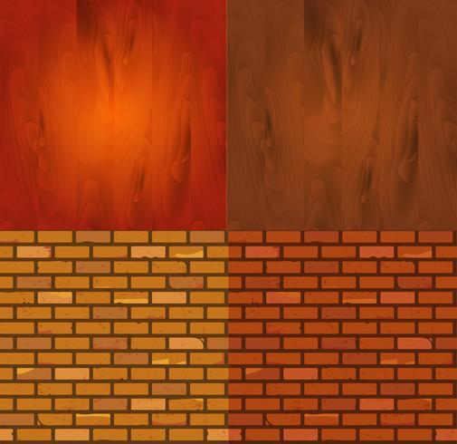 Ensemble de texture de brique de bois différente