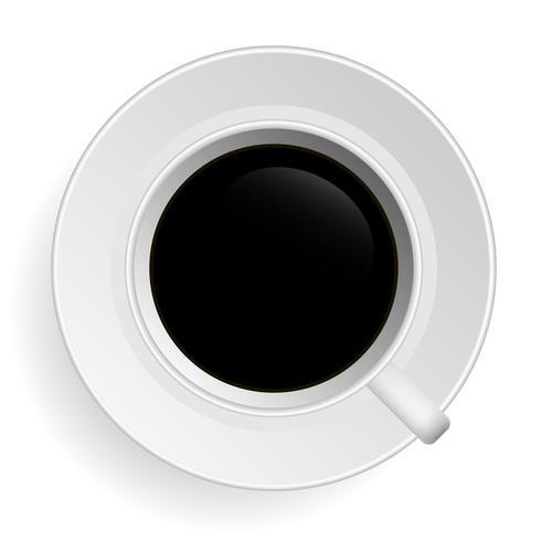 Zwarte thee Koffie Vector.
