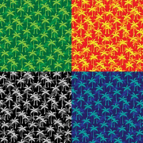 motifs de palmiers en couches