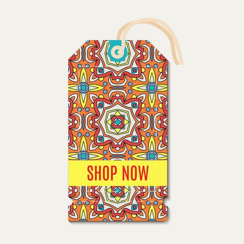 Tag con Talavera, ornamento luminoso messicano