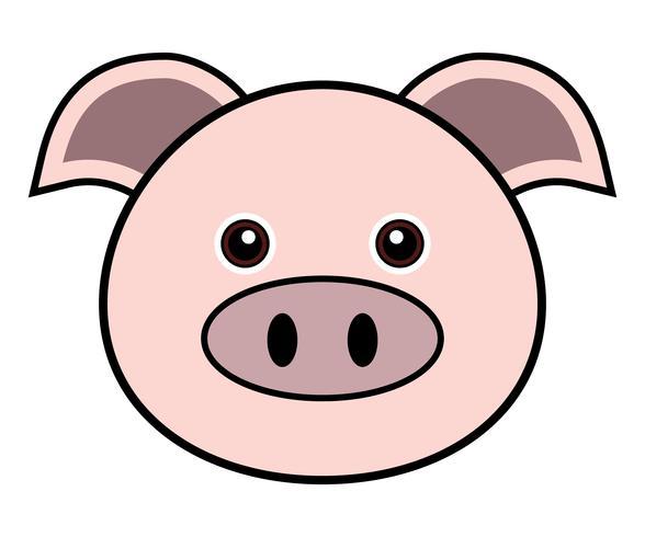 Vector lindo del cerdo.