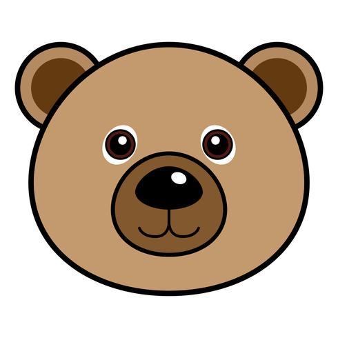 Vetor de urso fofo.