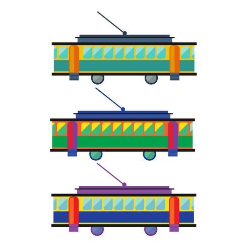 Tram. streetcar flat