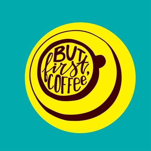Men första kaffebrev. vektor