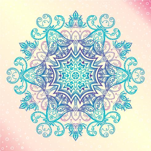 Mandala. Floral vintage round amulet tatoo vector