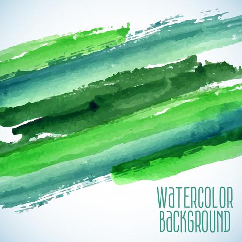 sfondo verde acquerello astratto vettore
