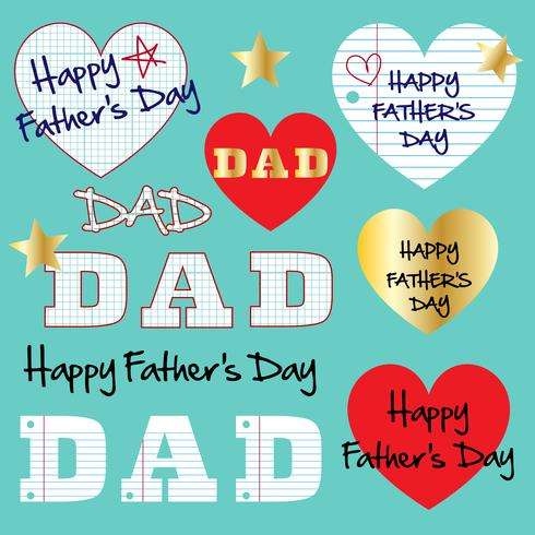 gráficos del día de padres de papel cuadriculado