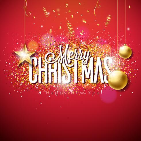 Feliz Navidad ilustración sobre fondo brillante vector