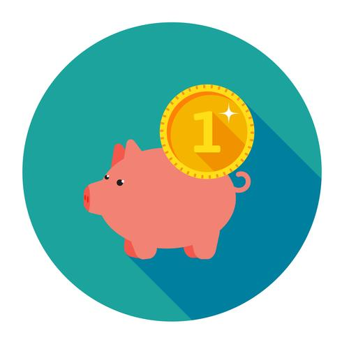 Infographics van varken Drie met muntstukken