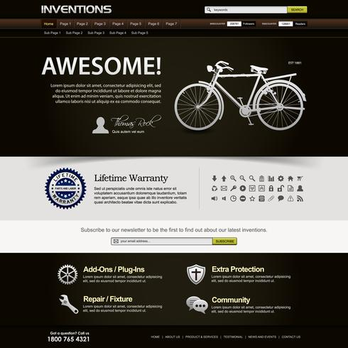 Web Design Website Element Template.  vector