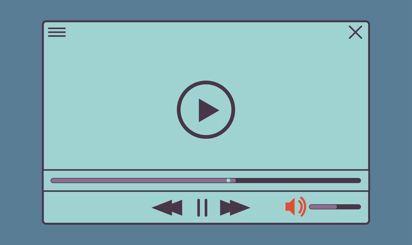 Flat video player para aplicativos da web e móveis