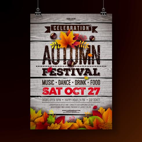 Illustration de flyer fête d'automne