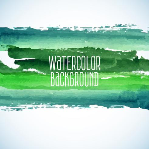 green abstract watercolor background vector