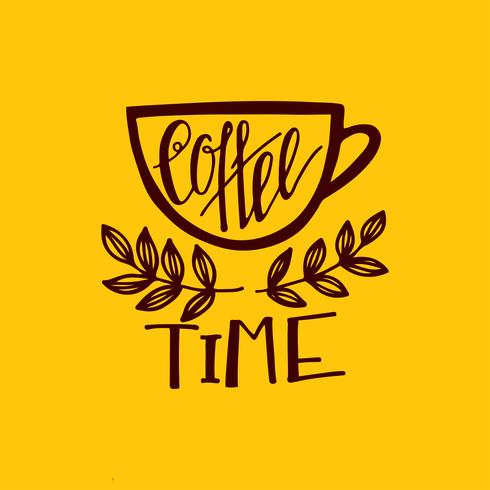 But first coffee lettering. vector