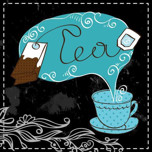 Plantilla de diseño de la hora del té