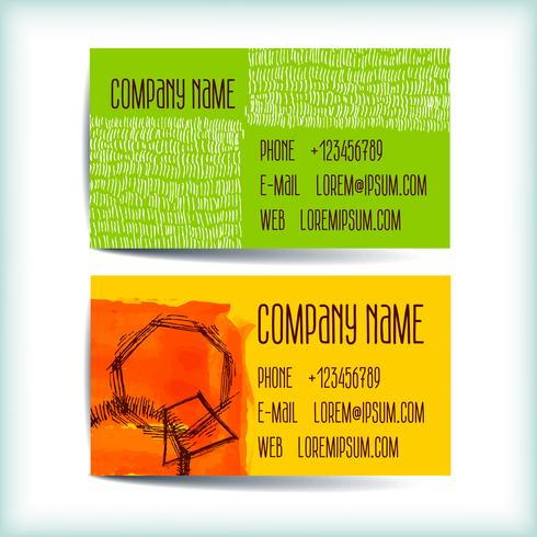 Set modern business card template