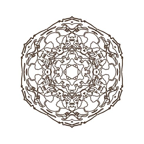 Mandala. Vintage decorative element. vector